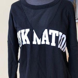 Pink NWT Pink Nation sweatshirt with mesh detail